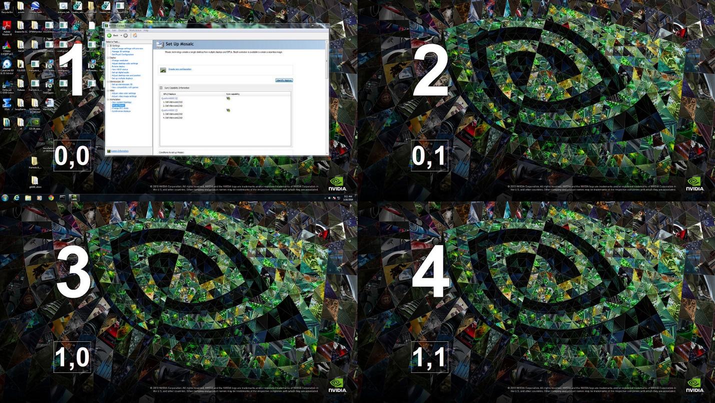 How to setup MOSAIC using NVIDIA control panel