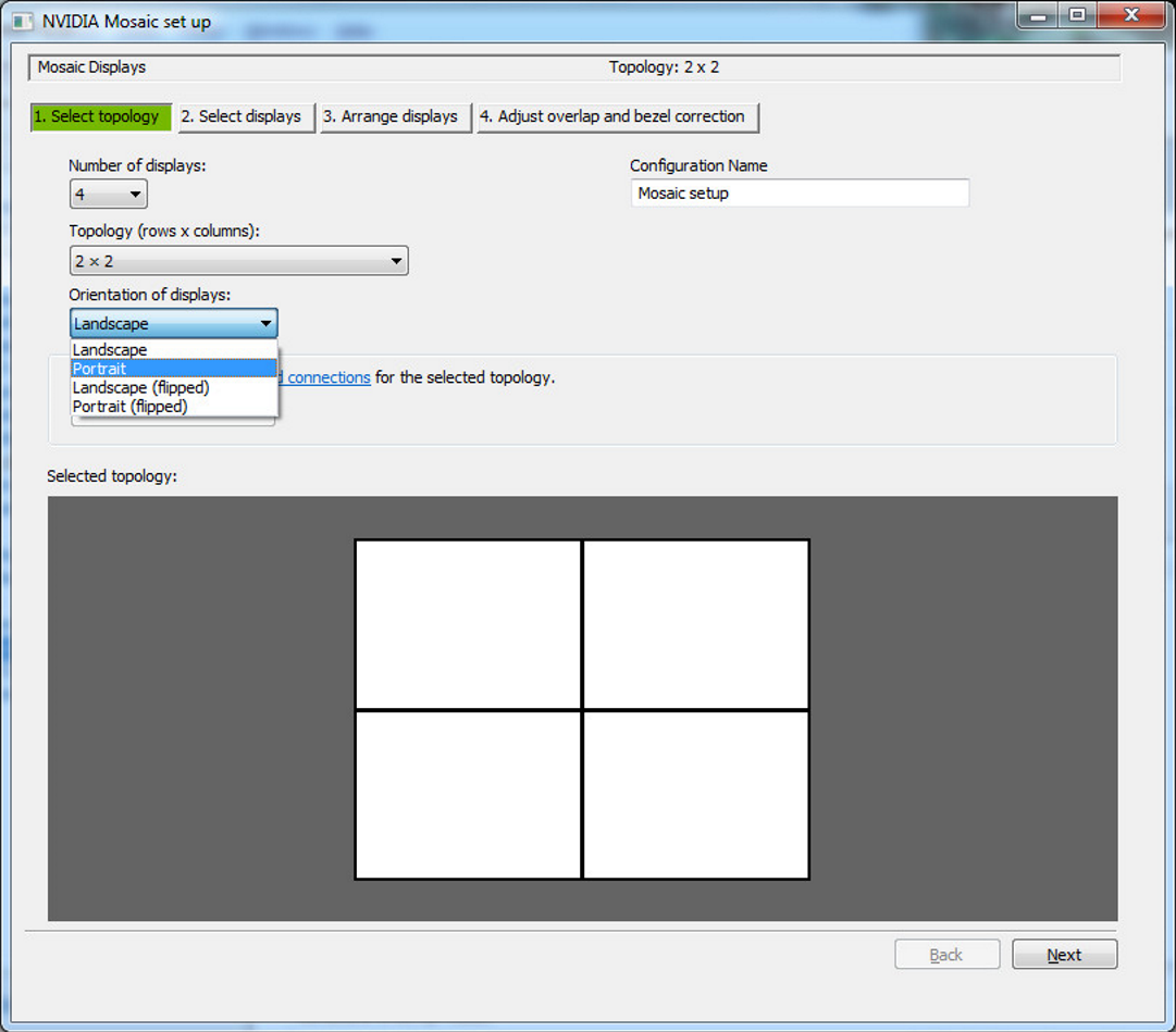 How to setup MOSAIC using NVIDIA control panel