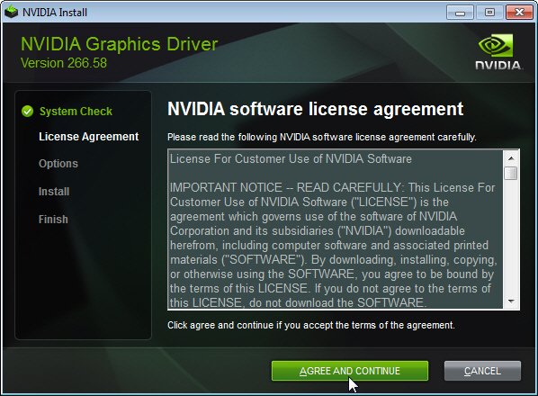 Installing NVIDIA Display Drivers Under Windows 7, Windows 8