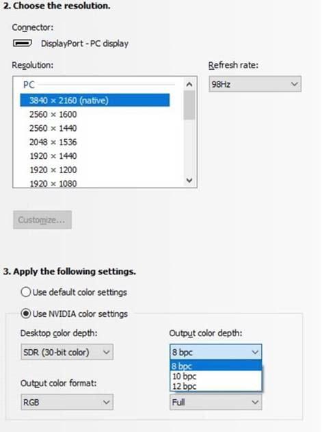 How to enable 30-bit color/10-bit per color on Quadro/GeForce?